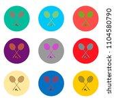 vector icons logo from set... | Shutterstock .eps vector #1104580790
