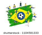 vector soccer player team with ... | Shutterstock .eps vector #1104581333