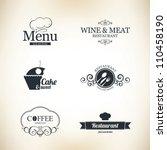 label set for restaurant and... | Shutterstock .eps vector #110458190