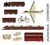 set travel plane train  bus ... | Shutterstock .eps vector #1104584189