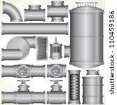 industrial pipeline parts. pipe ... | Shutterstock .eps vector #110459186