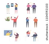men and women who communicate... | Shutterstock .eps vector #1104592103