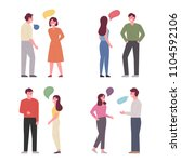 man and woman characters... | Shutterstock .eps vector #1104592106