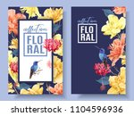 vector tropical banners with... | Shutterstock .eps vector #1104596936