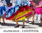 authentic peruvian dance   Shutterstock . vector #1104599336