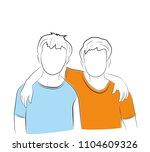 vector illustration of boys... | Shutterstock .eps vector #1104609326