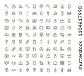 game icon set. collection of... | Shutterstock .eps vector #1104617990