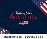 celebrate happy 4th of july  ... | Shutterstock .eps vector #1104618983