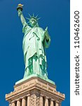 The Statue Of Liberty On The...