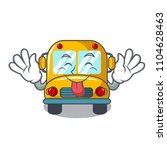 tongue out school bus mascot... | Shutterstock .eps vector #1104628463