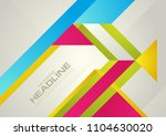 hi tech colorful geometric... | Shutterstock .eps vector #1104630020