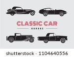set classic car side view icon... | Shutterstock .eps vector #1104640556