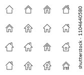 set of house and home icon.... | Shutterstock .eps vector #1104640580