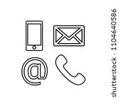 contact line icons set | Shutterstock .eps vector #1104640586
