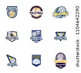 set of volleyball badge design... | Shutterstock .eps vector #1104642290