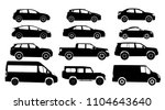 set of car silhouette  isolated ... | Shutterstock .eps vector #1104643640