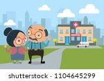 couple of lovely senior with... | Shutterstock .eps vector #1104645299