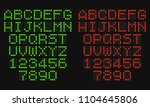 lcd letters and numbers for a... | Shutterstock .eps vector #1104645806