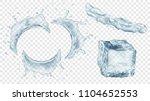 set of translucent semicircular ...   Shutterstock .eps vector #1104652553