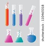 laboratory test tubes isolated...