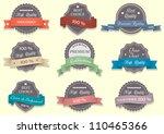 nine premium quality labels... | Shutterstock .eps vector #110465366