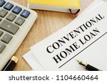 conventional home loan form and ... | Shutterstock . vector #1104660464