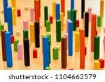 wood montessori material for... | Shutterstock . vector #1104662579