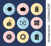 set of 9 shutter filled icons... | Shutterstock .eps vector #1104664238