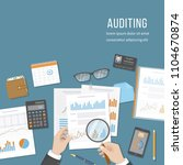 auditing concepts. auditor... | Shutterstock . vector #1104670874