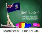 vector flag of falkland islands ... | Shutterstock .eps vector #1104671036