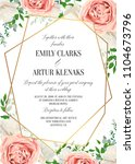 wedding floral invite ... | Shutterstock .eps vector #1104673796