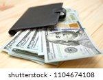 heap of money and wallet. money ...   Shutterstock . vector #1104674108