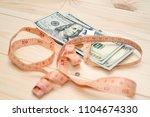 heap of money measurment. money ...   Shutterstock . vector #1104674330