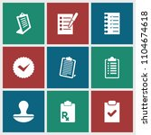 agreement icon. collection of 9 ... | Shutterstock .eps vector #1104674618