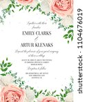 wedding floral invite ... | Shutterstock .eps vector #1104676019