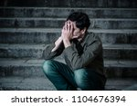 latin man stressed from work...   Shutterstock . vector #1104676394