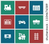 train icon. collection of 9... | Shutterstock .eps vector #1104676589