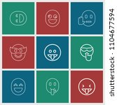laugh icon. collection of 9... | Shutterstock .eps vector #1104677594