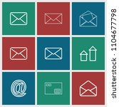 send icon. collection of 9 send ... | Shutterstock .eps vector #1104677798