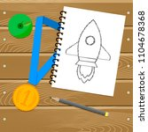 sporting achievement or... | Shutterstock .eps vector #1104678368