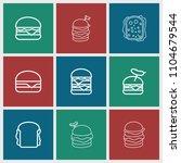 cheeseburger icon. collection... | Shutterstock .eps vector #1104679544