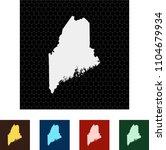 map of maine   Shutterstock .eps vector #1104679934