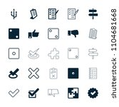 choice icon. collection of 25... | Shutterstock .eps vector #1104681668