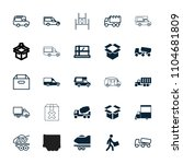 deliver icon. collection of 25... | Shutterstock .eps vector #1104681809