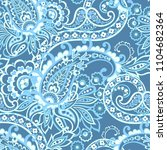 seamless paisley pattern in... | Shutterstock .eps vector #1104682364