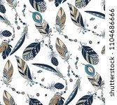 tribal native seamless pattern... | Shutterstock .eps vector #1104686666