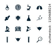 biology icon. collection of 16... | Shutterstock .eps vector #1104688214