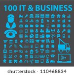 100 it business icons set ... | Shutterstock .eps vector #110468834