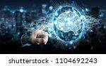 businessman on blurred... | Shutterstock . vector #1104692243