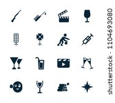 shot icon. collection of 16... | Shutterstock .eps vector #1104693080